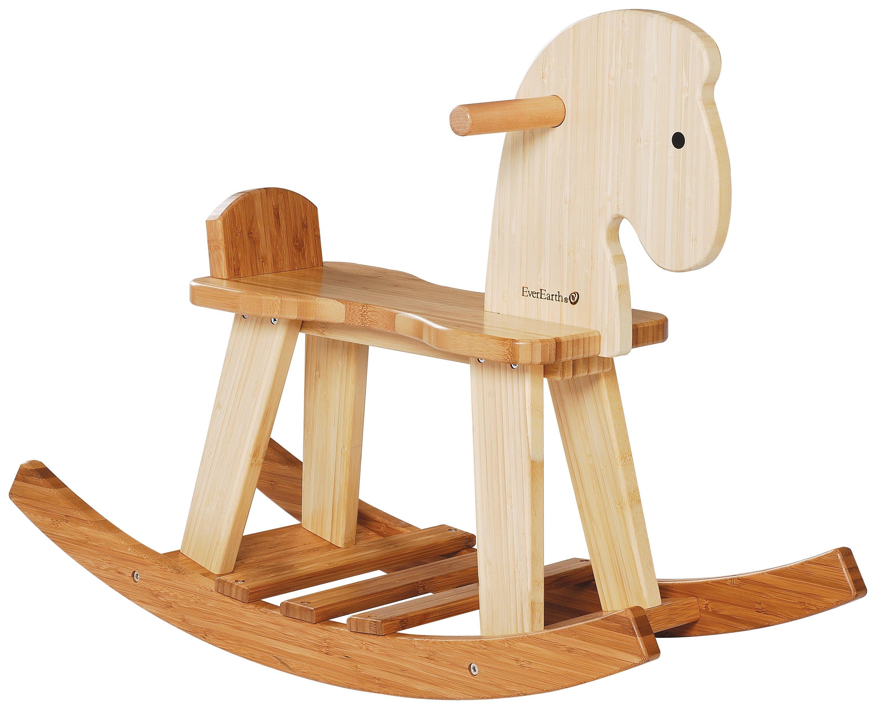 Image of EverEarth Bamboo Rocking Horse.