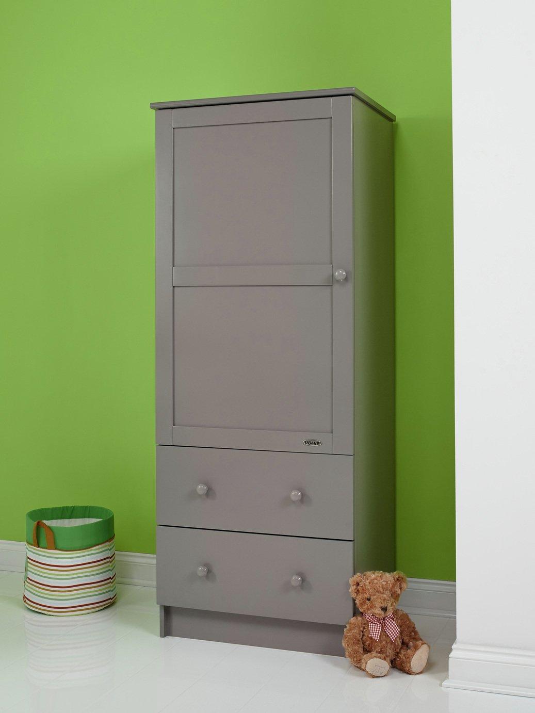 obaby single nursery wardrobe  taupe grey.