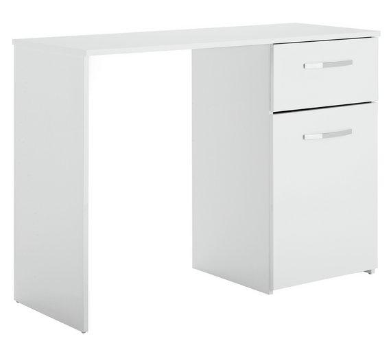 Buy Argos Home Hayward Office Desk White Gloss Office Furniture