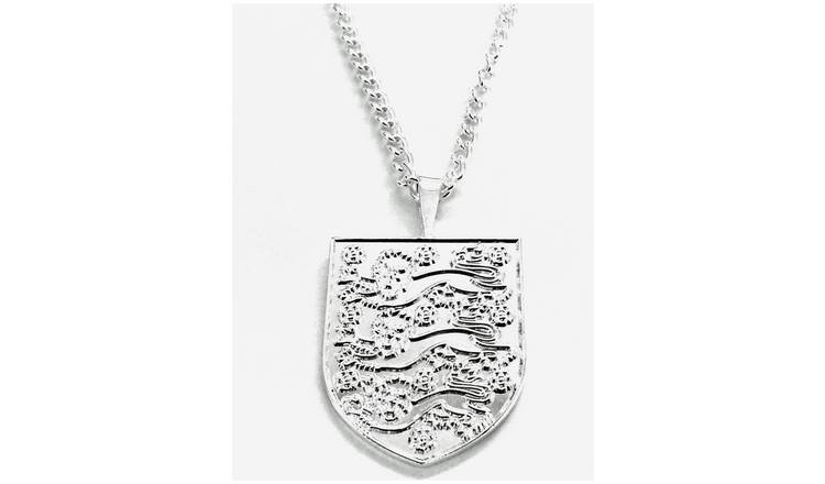Silver Plated England Pendant and Chain.