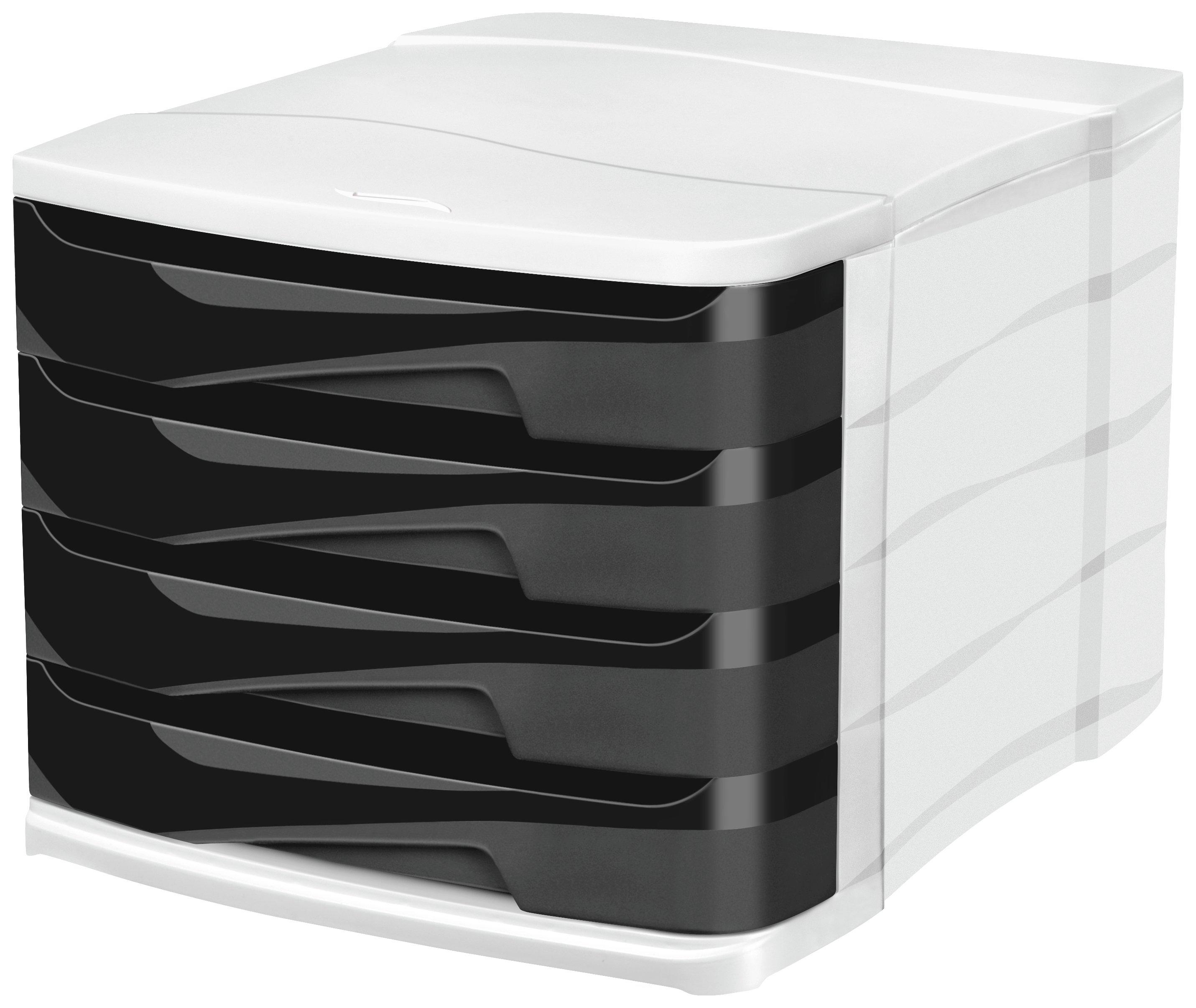 Image of CEP 4 Drawer - Desktop Module - Black
