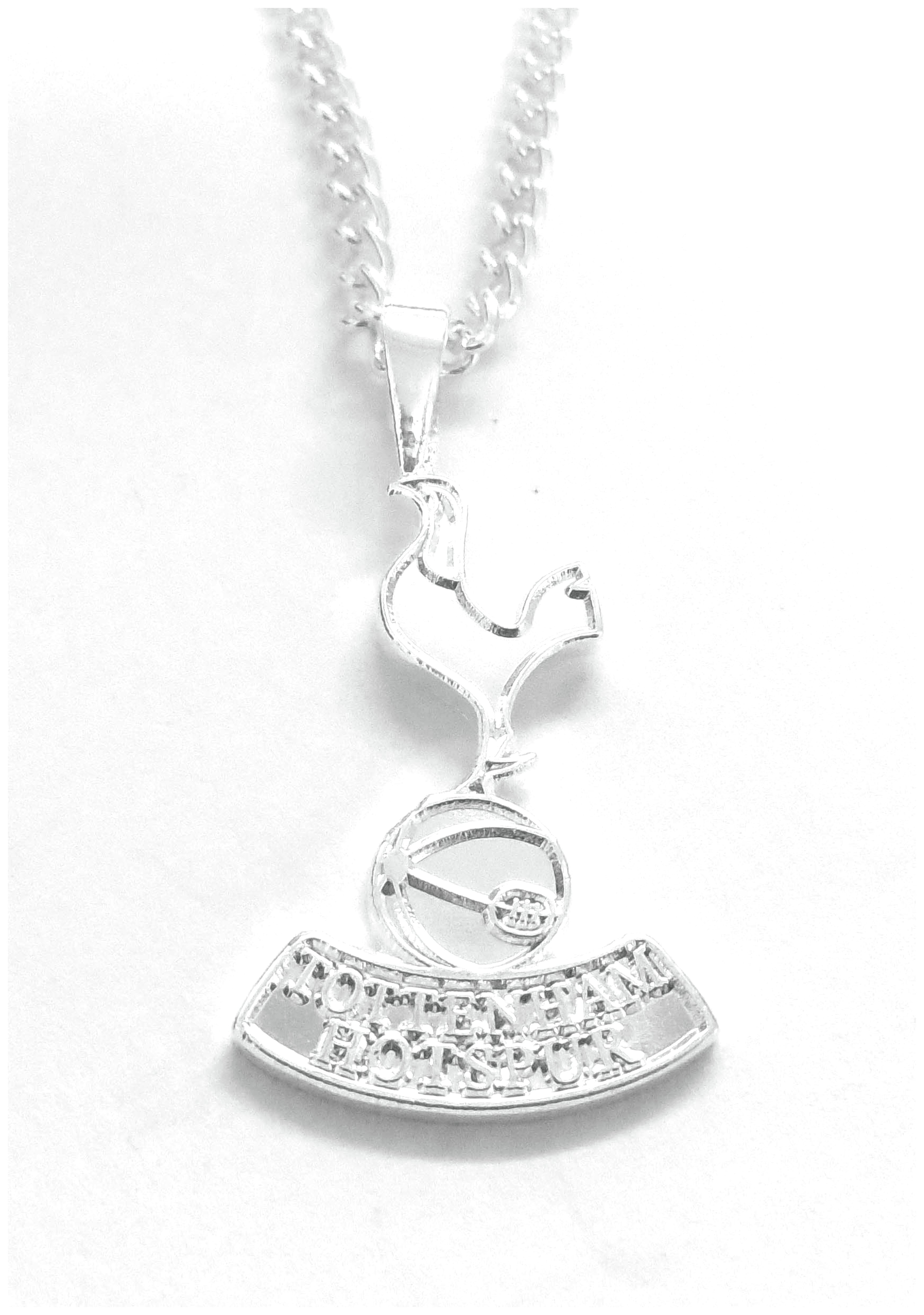 Silver Plated Tottenham Hotspur Pendant and Chain.