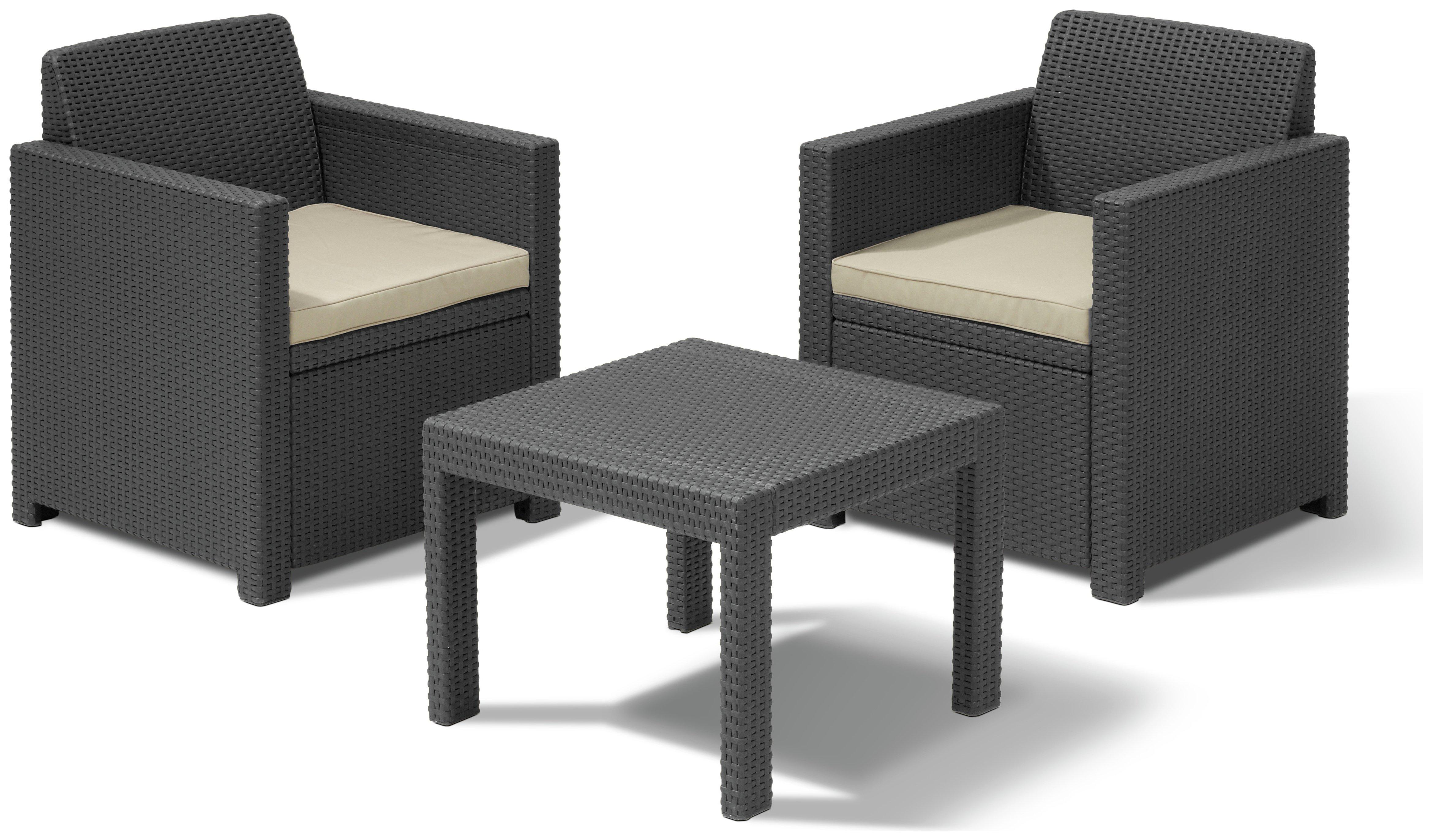 Комплект мебели для балкона keter allegro balcony set - kete.