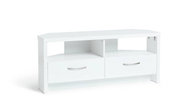official photos 9d52a ca805 Buy Argos Home Venice 2 Drawer Large Corner TV Unit - White | TV stands |  Argos