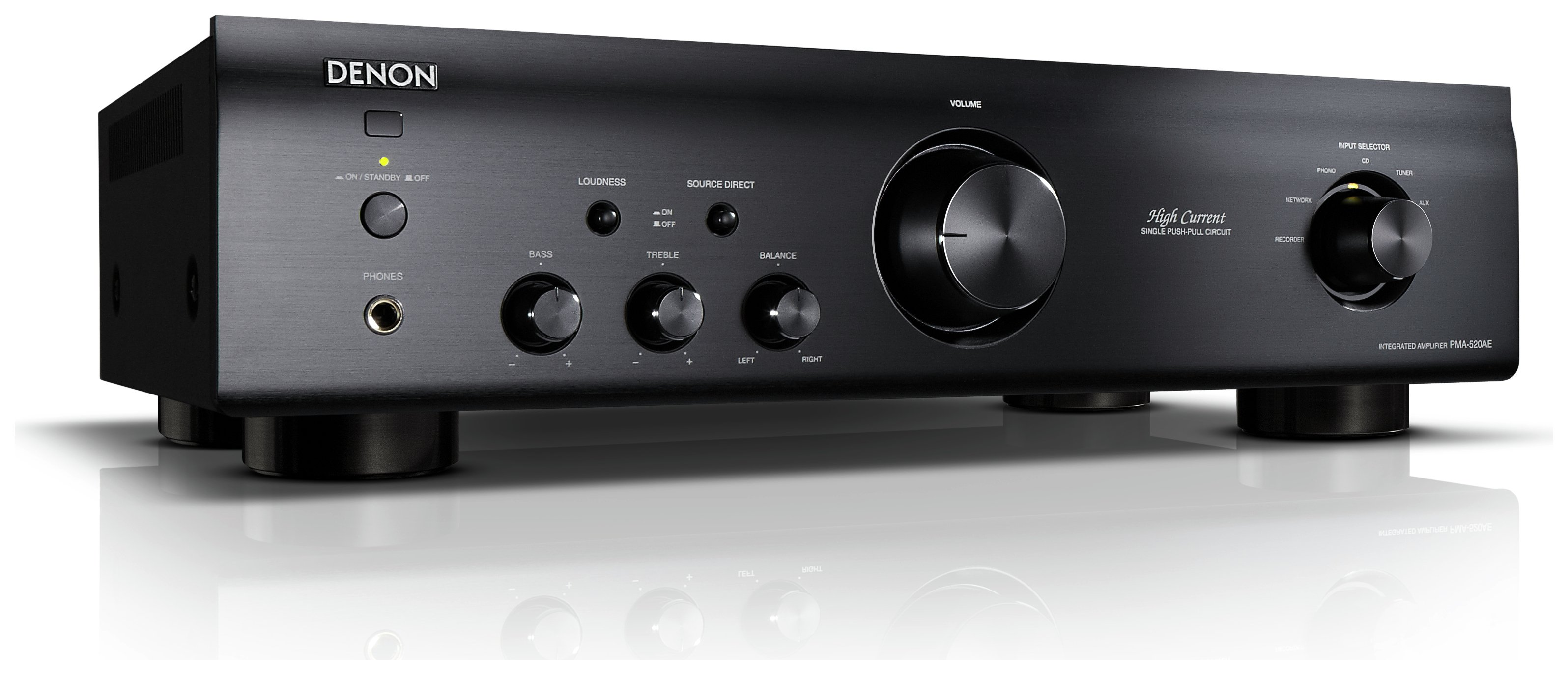 Image of Denon - Integrated Amplifier 520 - Black