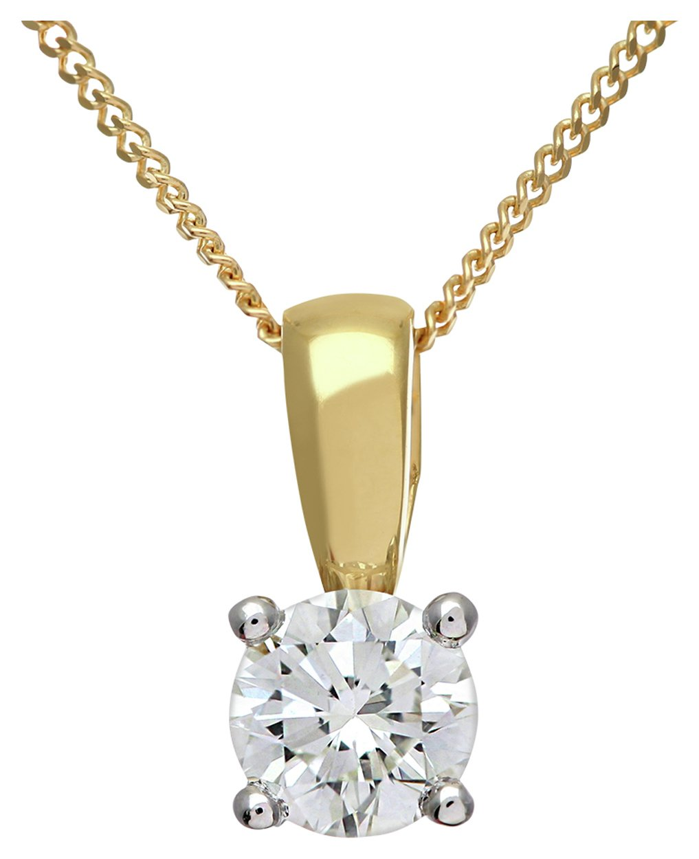 Image of Everlasting Love 18ct Gold 0.50ct Circle Diamond Pendant Necklace.
