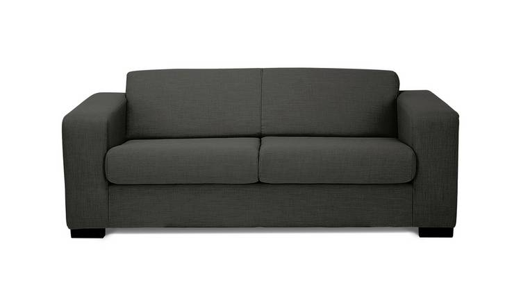 Argos Home Ava Compact 3 Seater Fabric Sofa - Charcoal