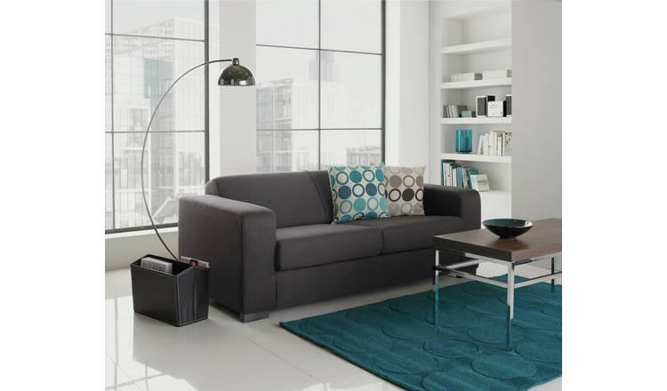 Buy Argos Home Ava Compact 3 Seater Fabric Sofa Charcoal   Sofas   Argos