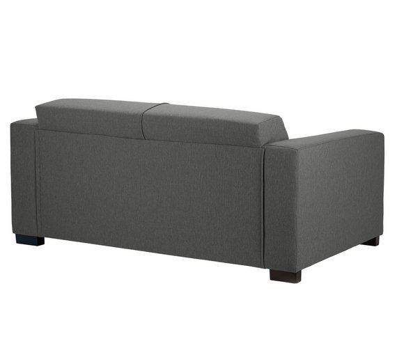Buy Hygena New Ava Compact 3 Seater Fabric Sofa Charcoal