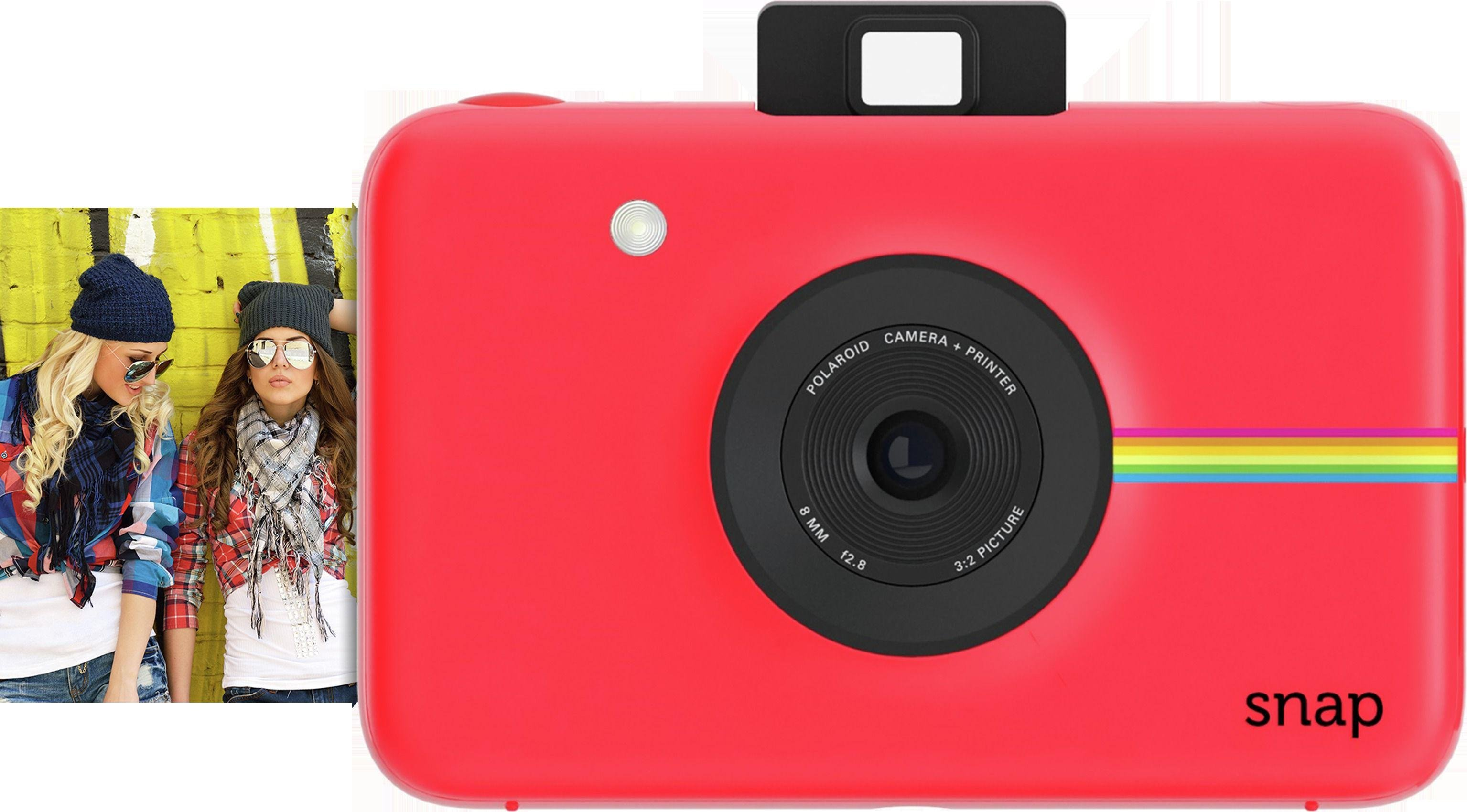 Polaroid - SnapInstant Print Digital Camera with 20 shots - Red