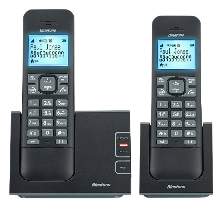 Image of Binatone - Defence - Cordless Telephone & Answer Machine - Twin