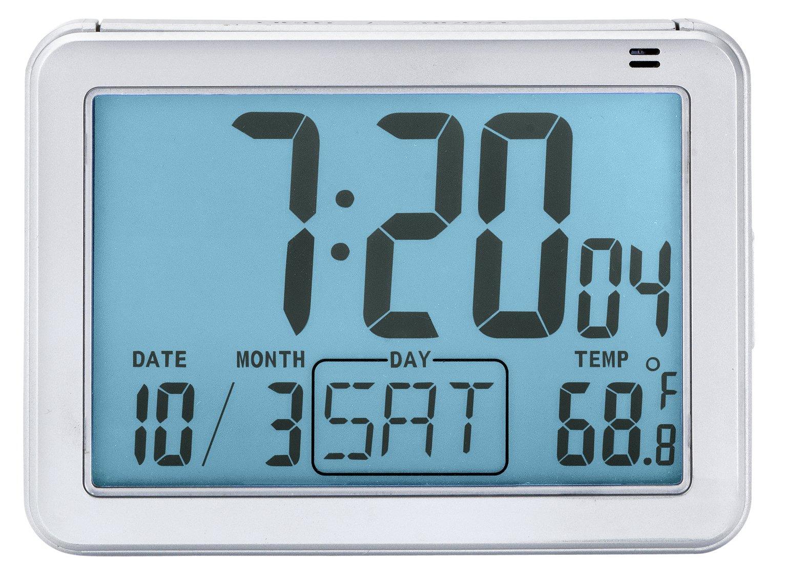 London Clock Company Large Display Digital Alarm Clock