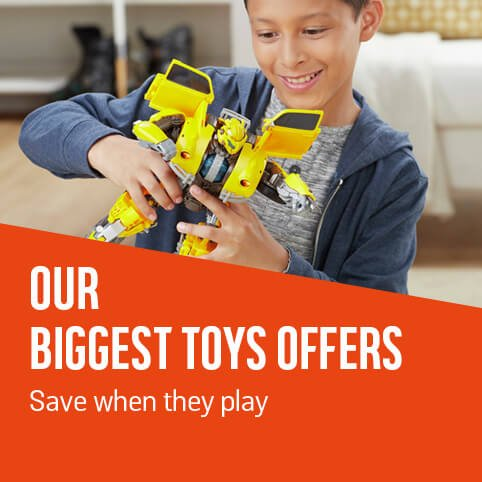 Our biggest toys offers. Save when they play.