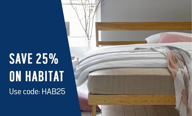 Save 25% on Habitat using code: HAB25.