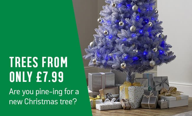 Trees from only £7.99. Are you pine-ing for a new Christmas tree?