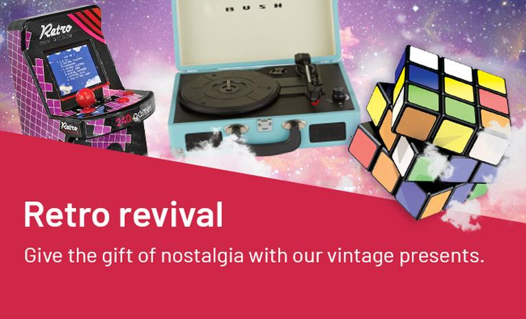 Retro revival. Give the gift of nostalgia with our vintage presents.