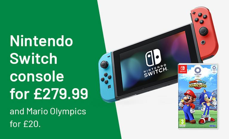 Nintendo Switch console for £279.99 and Mario Olympics for £20.