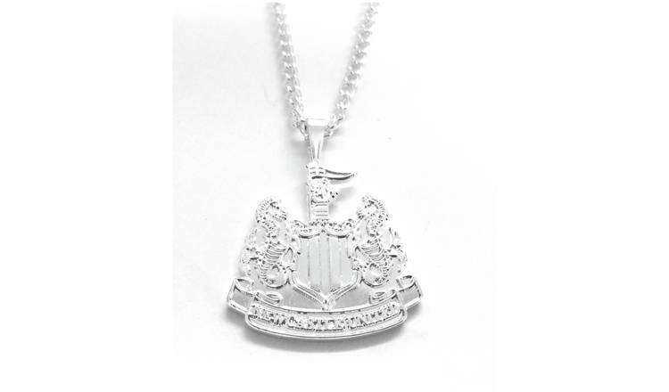 Silver Plated Newcastle Utd Pendant and Chain