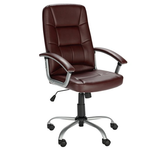 buy walker height adjustable office chair brown at argos. Black Bedroom Furniture Sets. Home Design Ideas