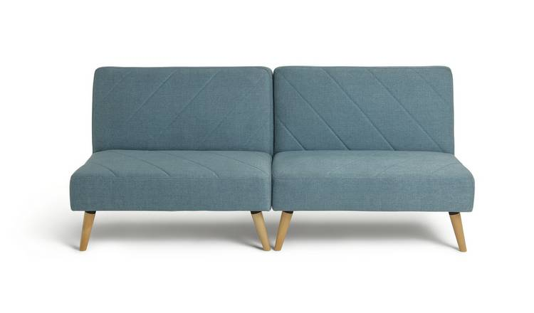 Argos Home Luna 2 Seater Fabric Sofa Bed - Blue