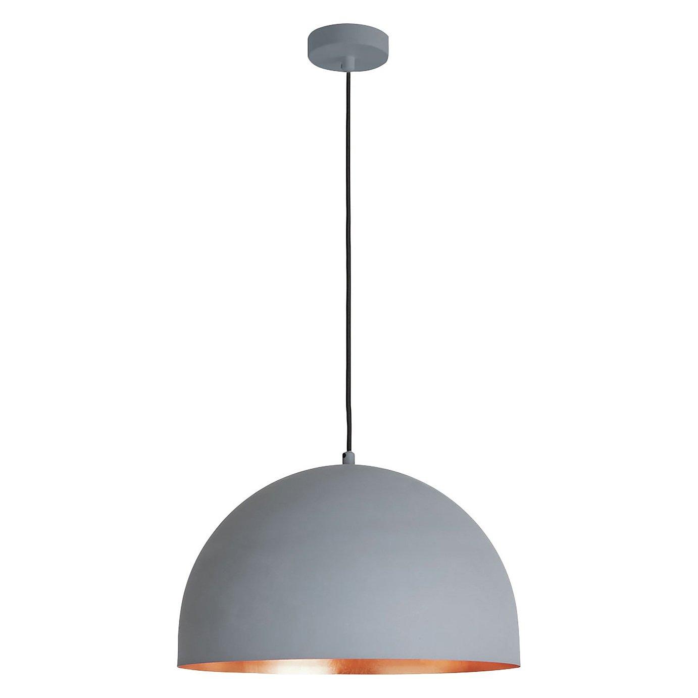 Habitat East Pendant Ceiling Light - Copper & Grey