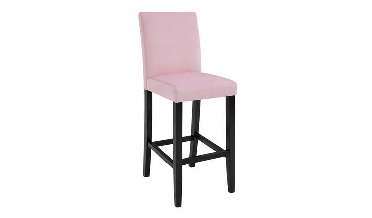 Argos Home Winslow Velvet Tall Bar Stool - Pink