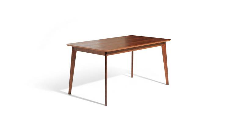 Habitat Skandi Walnut Veneer 6 Seater Dining Table
