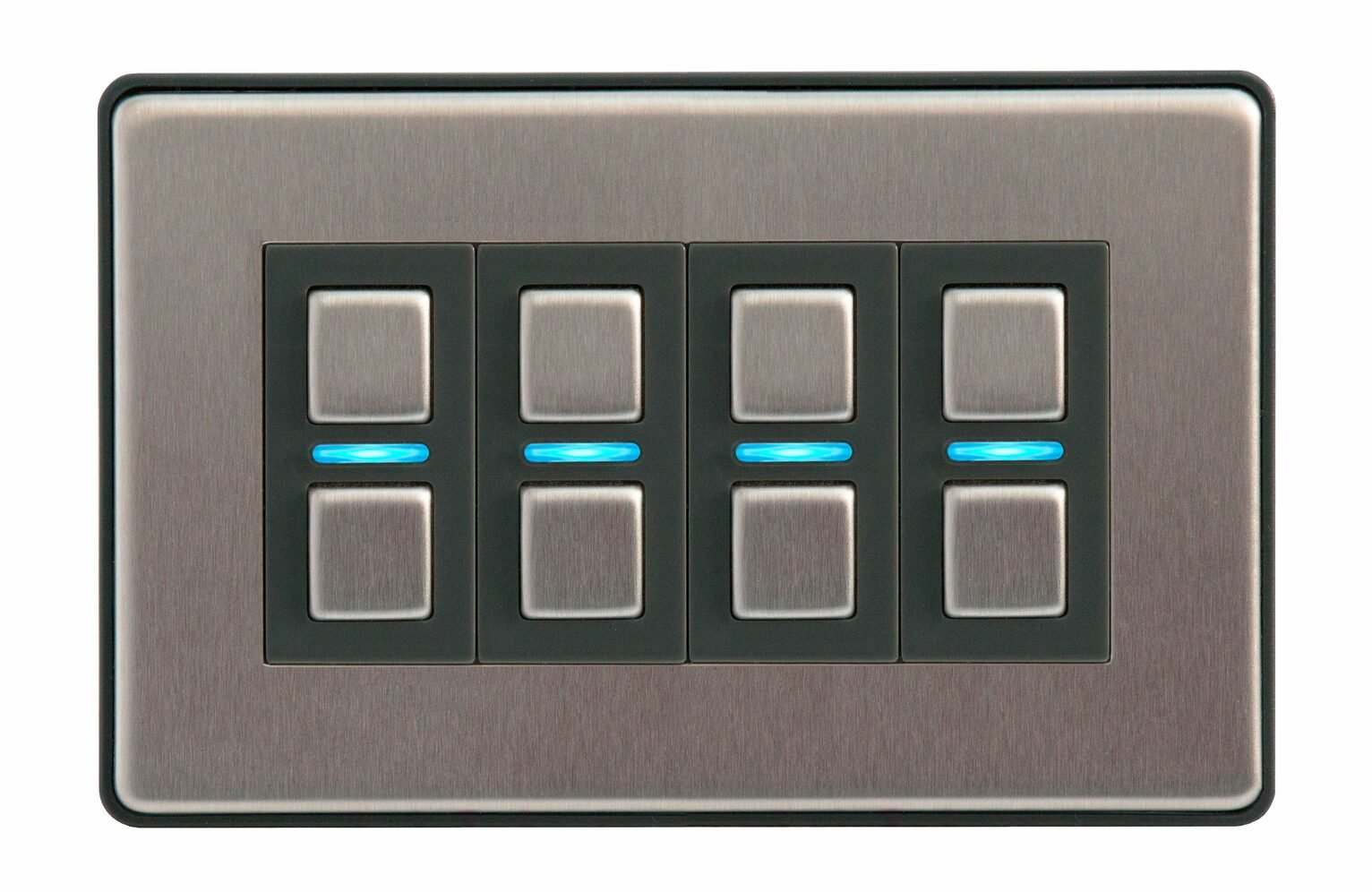 Lightwave Smart Series Dimmer - 4 Gang- Stainless Steel