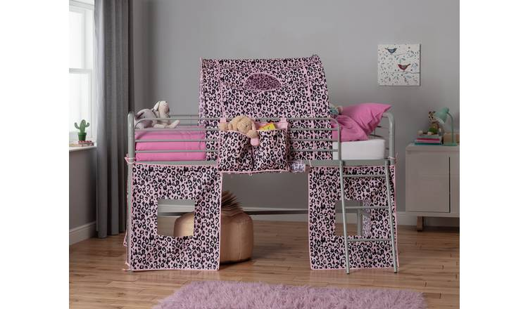 Argos Home Pink Leopard Tunnel & Tent for Kids Mid Sleeper