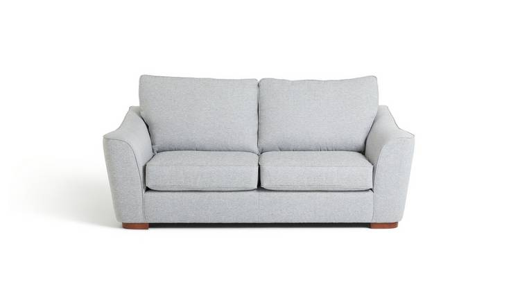 Habitat Lotus 3 Seater Fabric Sofa - Silver