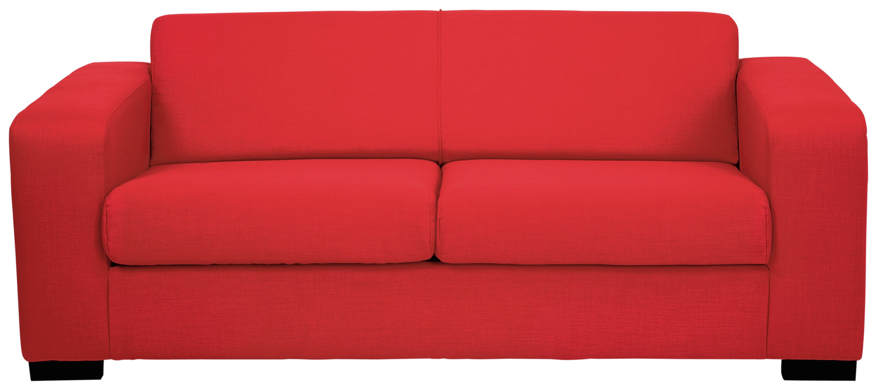 Image of Hygena - New Ava 3 Seater - Fabric Sofa - Red