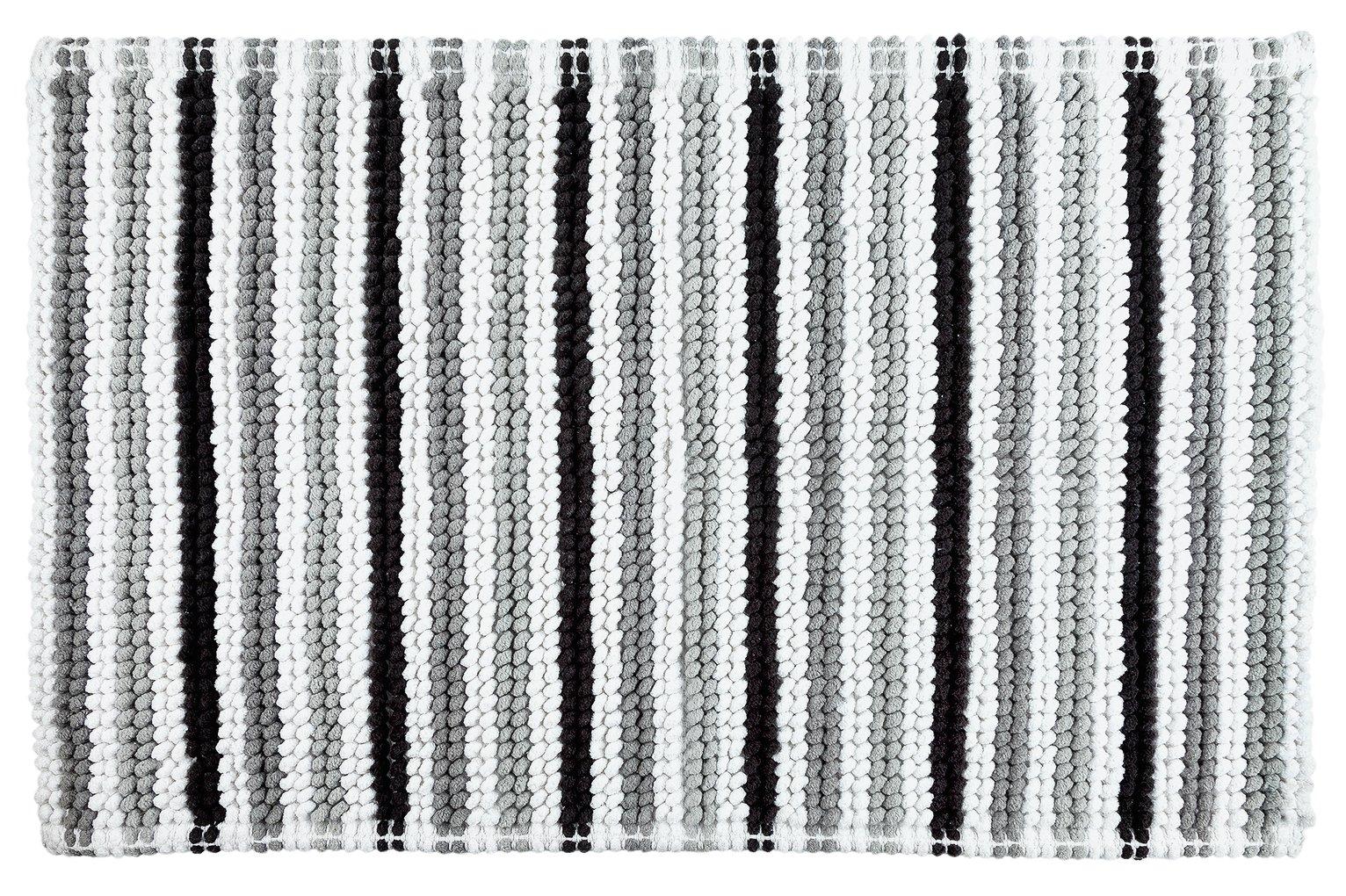 Picture of: Argos Home Stripe Bath Mat Black And White 4532309 Argos Price Tracker Pricehistory Co Uk