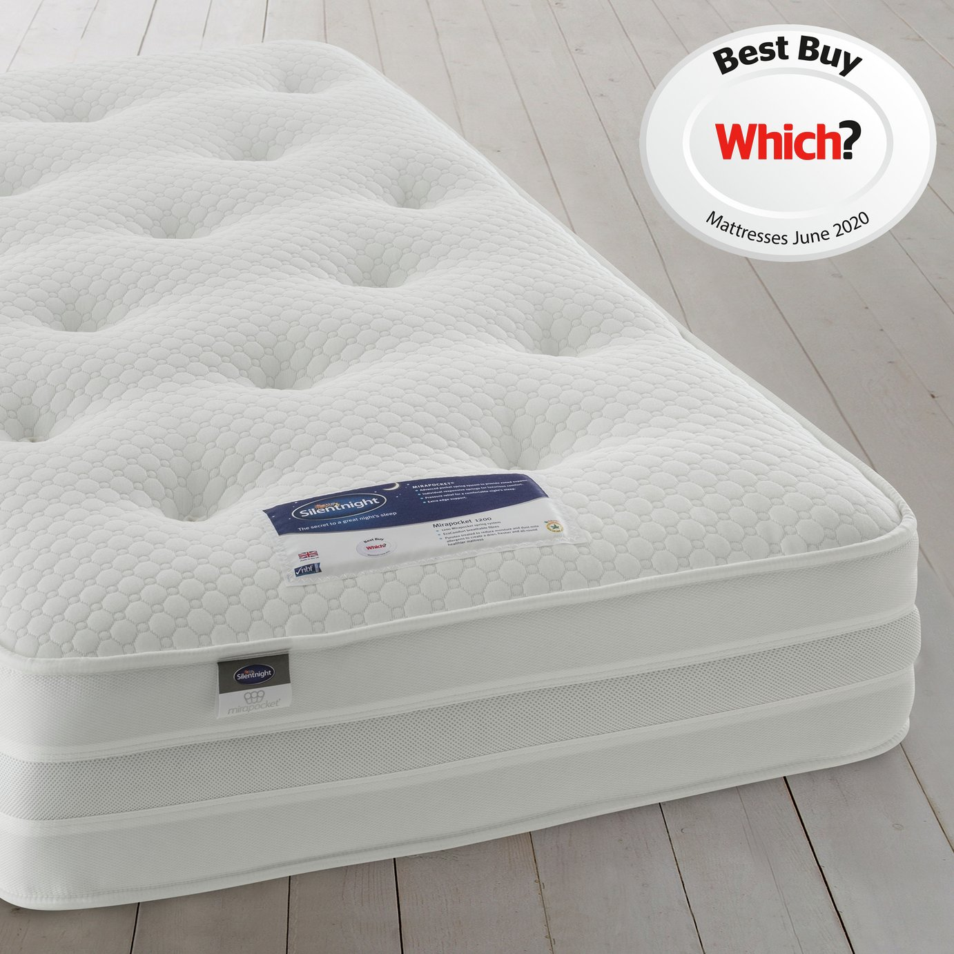 Silentnight Walton 1200 Pocket Sprung Luxury Single Mattress