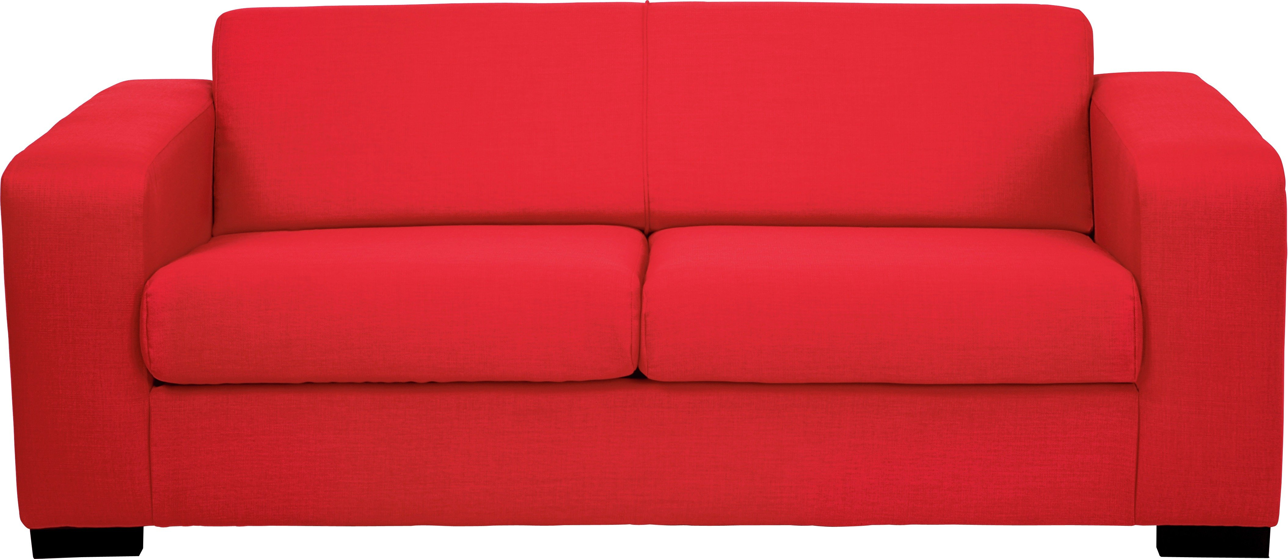 Image of Hygena - Ava - 2 Seater Fabric - Sofa Bed - Red