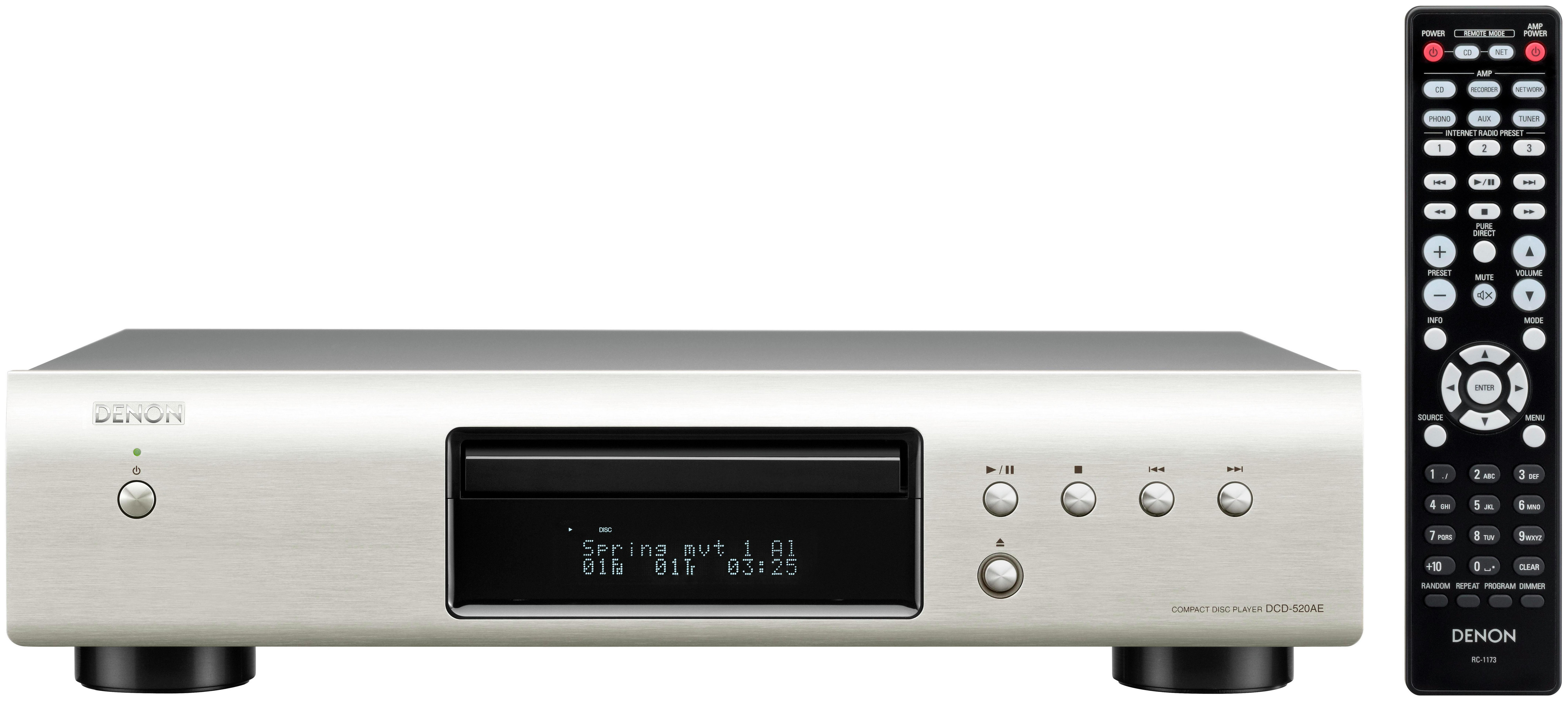 Image of Denon 520 CD Player - Silver.