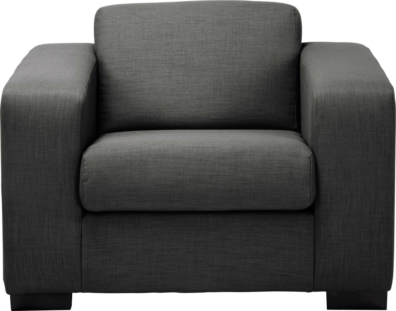 Argos Home Ava Fabric Armchair - Charcoal