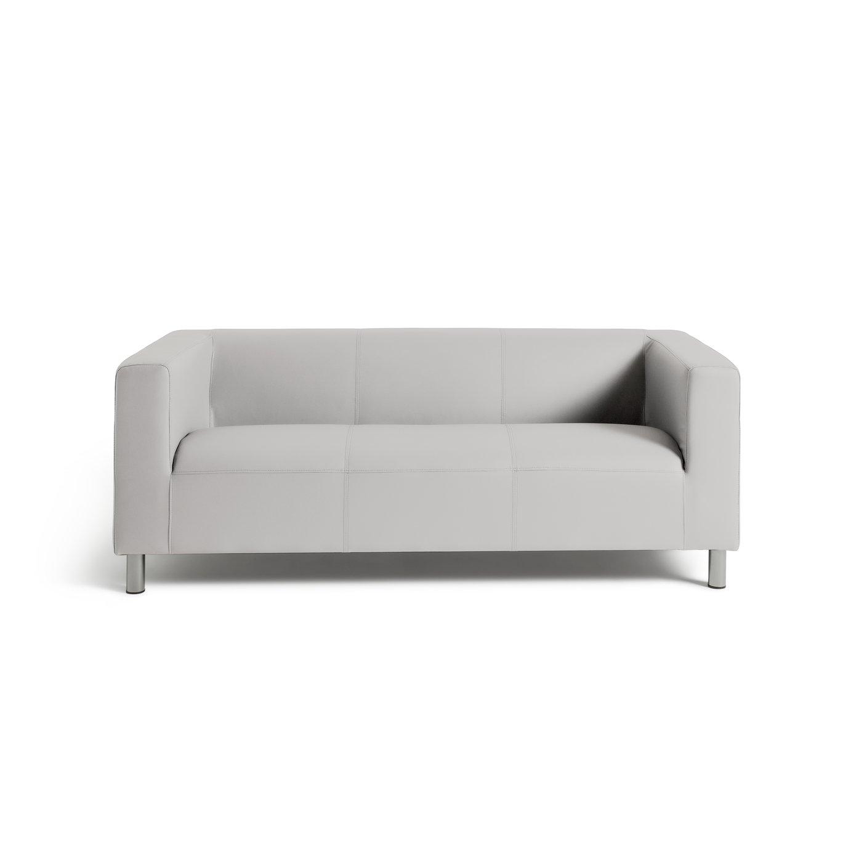 Habitat Moda 3 Seater Faux Leather Sofa - White