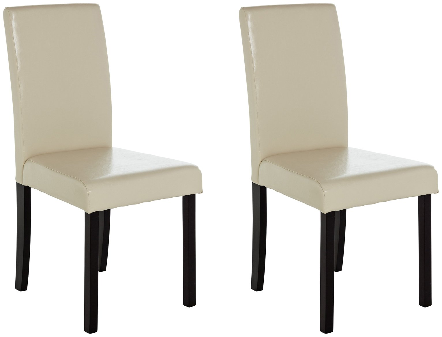 Argos Home Pair of Mid Back Leather Effect Chairs review