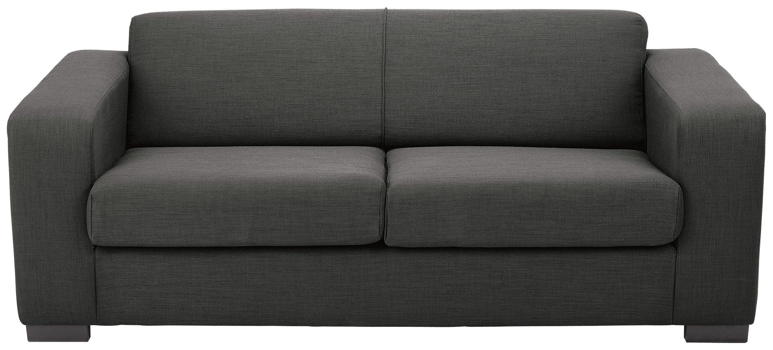 Hygena New Ava 2 Seater Fabric Sofa Bed - Charcoal