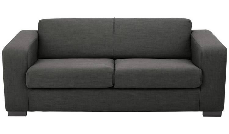 Habitat New Ava 2 Seater Fabric Sofa Bed - Charcoal
