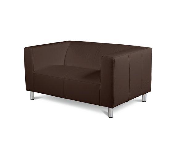 buy colourmatch moda compact 2 seater leather eff sofa. Black Bedroom Furniture Sets. Home Design Ideas