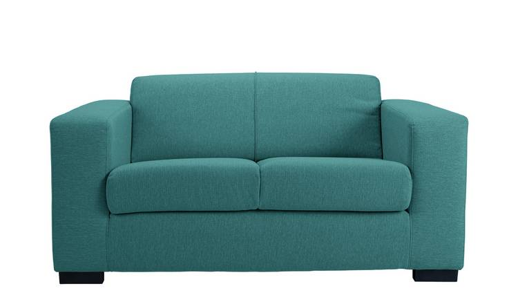 Habitat Ava Compact 2 Seater Fabric Sofa - Teal