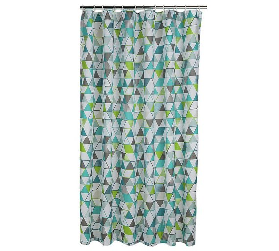 Buy ColourMatch Shower Curtain - Geometric at Argos.co.uk - Your ...