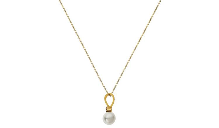 Revere 9ct Gold Freshwater Pearl Pendant Necklace
