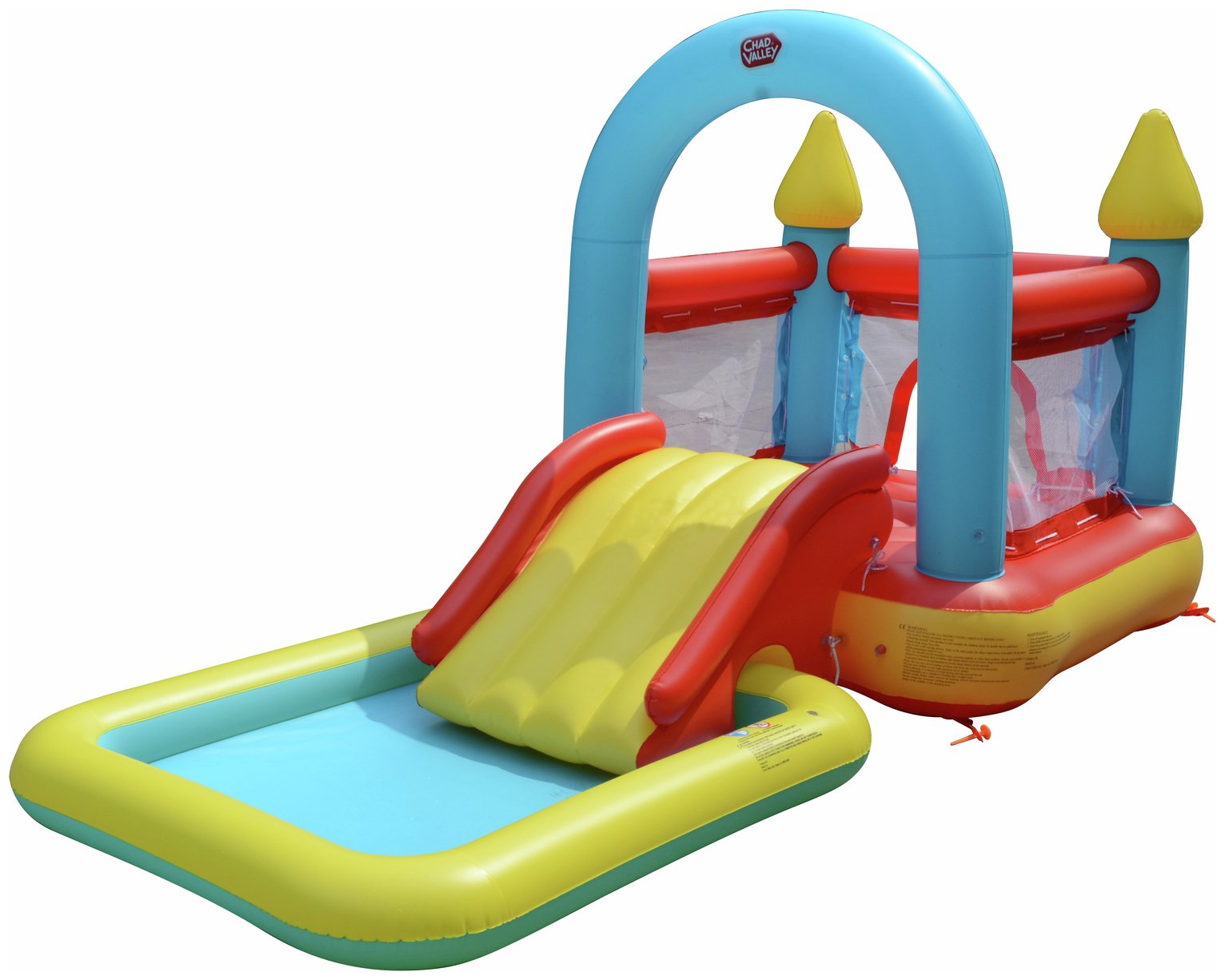 Chad Valley 10ft Kids Bouncy Castle and Paddling Pool - 90L