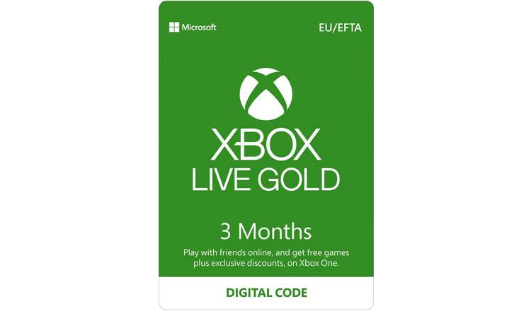 Xbox Live Gold 3 Month Subscription Digital Download