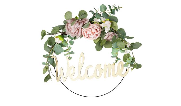Welcome Floral Wreath