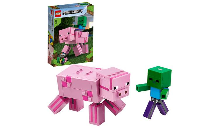LEGO Minecraft BigFig Pig with Baby Zombie Set 21157
