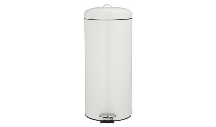 Argos Home 30L Round Kitchen Pedal Bin - Matt Cream