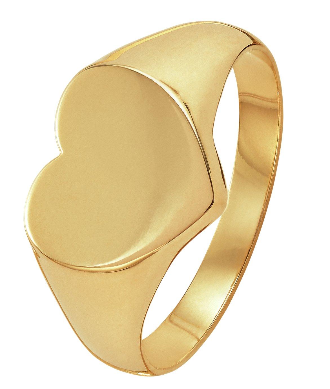 Revere 9ct Gold Heart Shaped Signet Ring